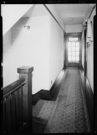 Interiors of apartment-house at 44 Navy Street, Los Angeles, CA, 1934