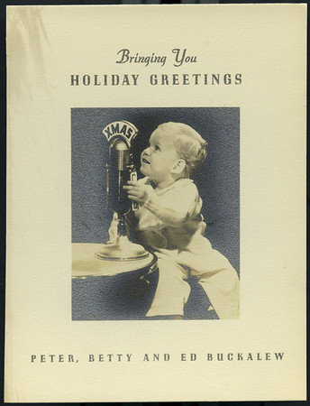 Christmas card, Southern California, 1940