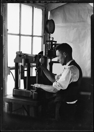 Parts of rotary drilling jar, also Pittman, Southern California, 1931 [image 11]