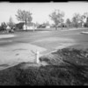 Intersection of Fremont Avenue & West Alhambra Road in Alhambra, Ford sedan-Mr. Mace owner & Ford Victoria-Lewis Rowan owner & assured, Southern California, 1935