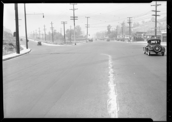Intersection, Huntington Drive North and North Soto Street, Barnard - #34463, Los Angeles, CA, 1934
