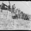 Ranch scene, cattle, sheep, and farming, Palos Verdes, CA, 1935