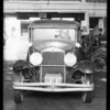 Wrecked Hupp sedan at Santa Monica - Mr. Elkins owner & assured, Santa Monica, CA, 1935