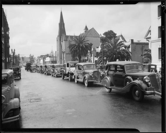 """Sierra Flyer"" end of run, Southern California, 1934"