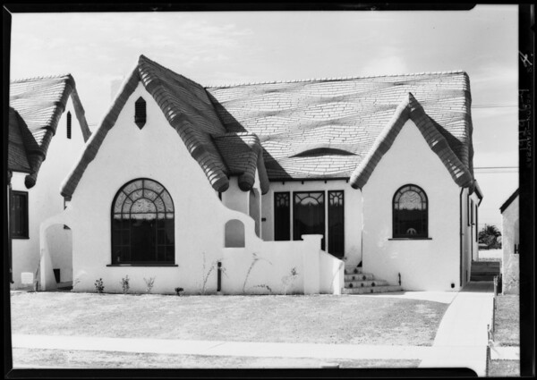 Houses, Vermont Avenue Knolls, Southern California, 1929