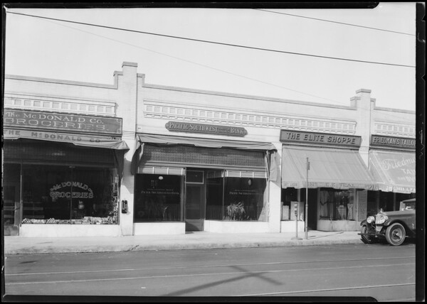 Pacific-Southwest Trust & Savings Bank, West 6th Street and South Western Avenue, Los Angeles, CA, 1924