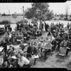 Crowd at auction, Montebello, CA, 1940