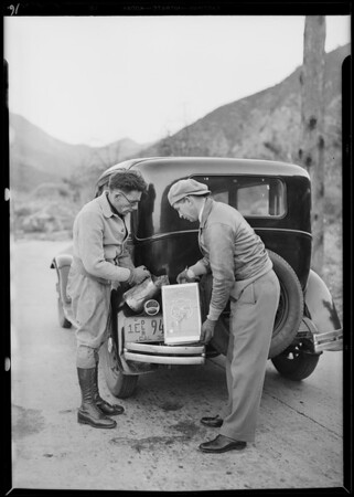 Erskine Mount Baldy run, Southern California, 1930