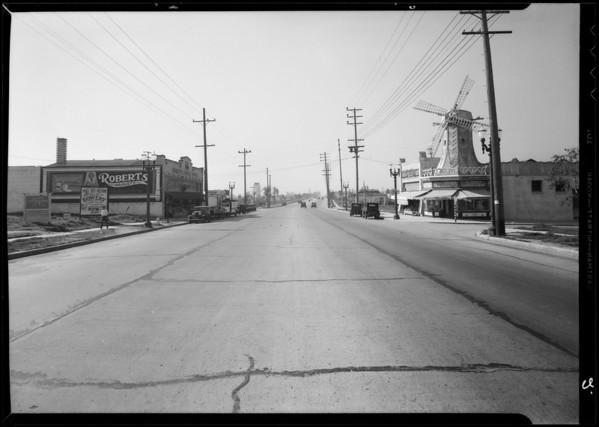 Intersection of West Pico Boulevard & Pelham Avenue, Los Angeles, CA, 1935