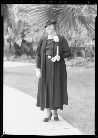 Thea Rasche, German aviatrix at Ambassador Hotel, Los Angeles, CA, 1934
