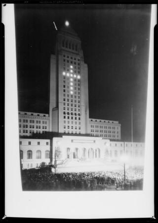 Copy to straighten building, Los Angeles Playground Department, Los Angeles, CA, 1930