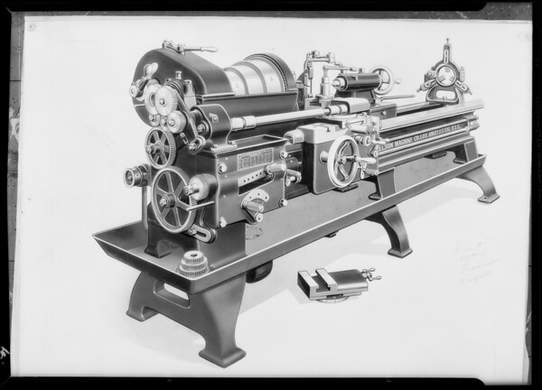 Retouched photo, Axelson Machine Co., Southern California, 1930