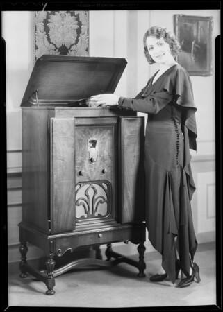 Mona Rico and Majestic Radio, Southern California, 1930