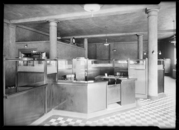 Exterior and interior of new 6th and Western, Los Angeles, CA, 1926