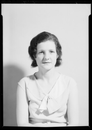 Passport photos, Southern California, 1934