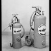 Oil cans, grease guns, etc, Pennzoil, Southern California, 1930