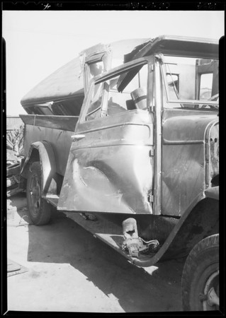 Case of Blithe vs. Bhudacoff, Ford & Dodge truck, Southern California, 1934
