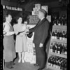 Mrs. Jones Wimer in Medmick Market, South Gate, CA, 1940