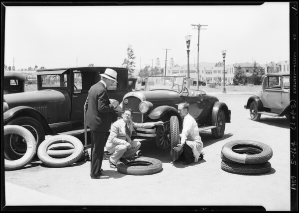 Fire chief and equipment, Southern California, 1929