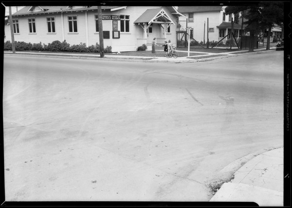 Intersection of West 38th Street and South Normandie Avenue, A. Spencer Moore, Los Angeles, CA, 1935