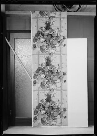 Cretonne goods, Southern California, 1931