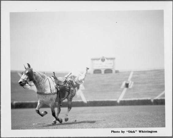 Trick riding at Rose Bowl, 1001 Rose Bowl Drive, Pasadena, CA, 1934