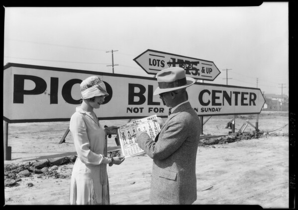 Pico Boulevard center, Southern California, 1926