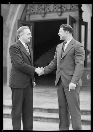 Joe Savoldi - Notre Dame - & Mr. Titus of Goodrich, Southern California, 1930
