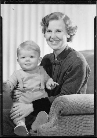 Baby and Ms. Paulson, Southern California, 1934