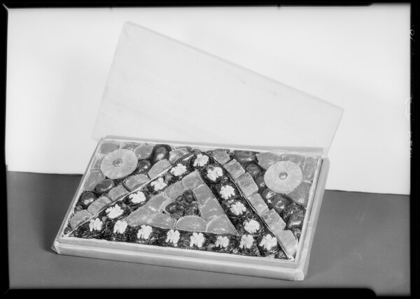 Fancy boxes of glazed fruit, Southern California, 1929