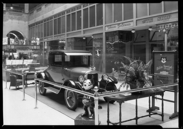 Felix Chevrolet Chevy in Broadway Arcade Building, Southern California, 1926