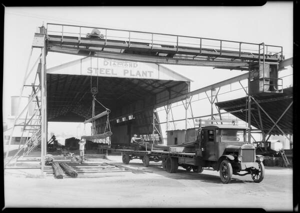 Interior and exterior of plant, Blue Diamond Co., South Alameda Street and East Washington Boulevard, Los Angeles, CA, 1931