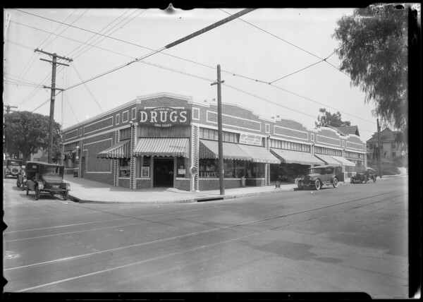 Drug store - 11th Street & Western Avenue, Los Angeles, CA, 1924