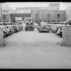 Rear exit of parking lot at 630 South Olive Street, Los Angeles, CA, 1934
