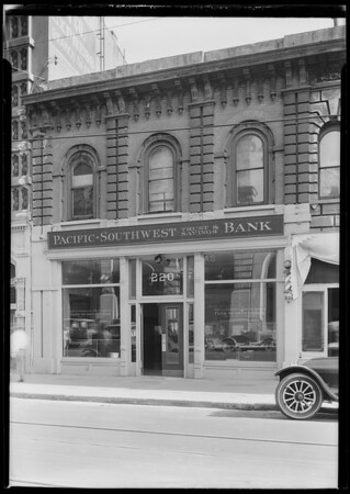 Pacific Southwest Bank, Main and Commercial Branch, Pomona, CA, 1924