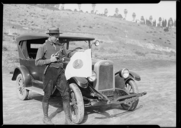 Chevrolet police car, Southern California, 1925