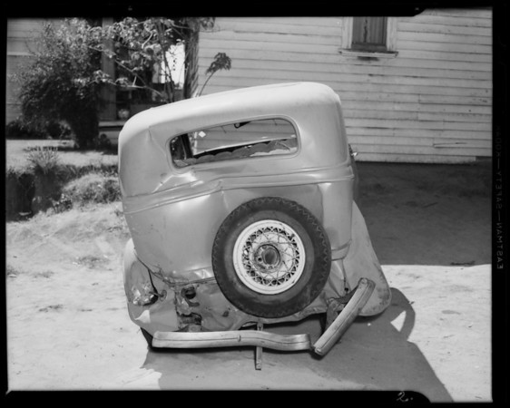 1934 Ford sedan, owner Cook at 7727 Santa Monica Boulevard, West Hollywood, CA, 1940