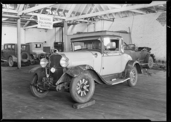 Franklin and Oldsmobile assured - L.D. Biddle, Southern California, 1931