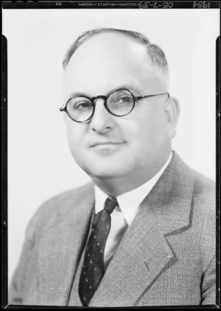 Portrait of self, Walter Biddick, Southern California, 1934