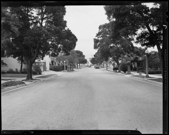 Intersection, North Harper Avenue and Norton Avenue, West Hollywood, CA, 1941