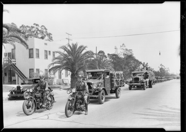 Moving University of California, Los Angeles to Westwood, Southern California, 1929