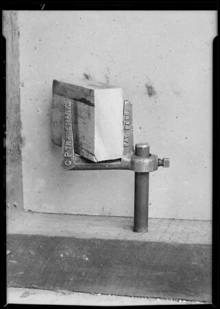 Screed supports, C.P. Concrete Screed Supports, Southern California, 1931