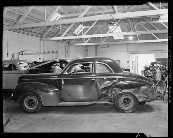 Mercury sedan at Bell Auto Works, Southern California, 1941