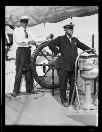 Insurance men give party on Captain Melville's ship, Southern California, 1929