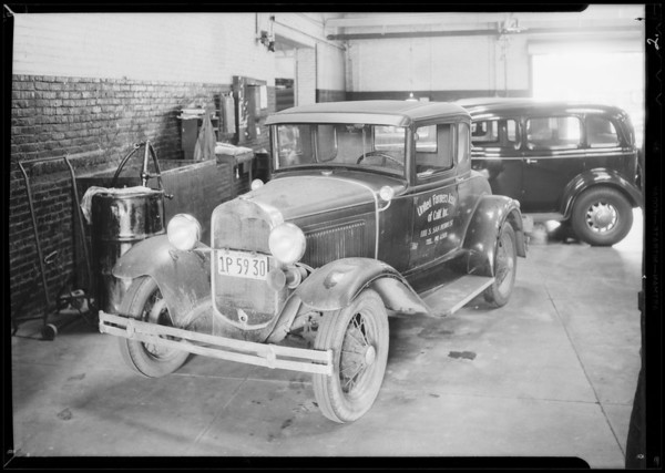 United Farmers Association Ford coupe, Southern California, 1934