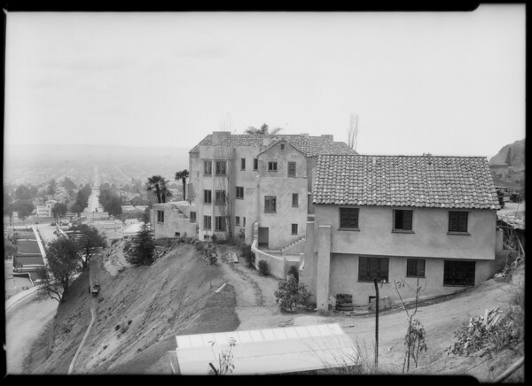 Dewitt residence, Hollywood Boulevard, Southern California, 1925