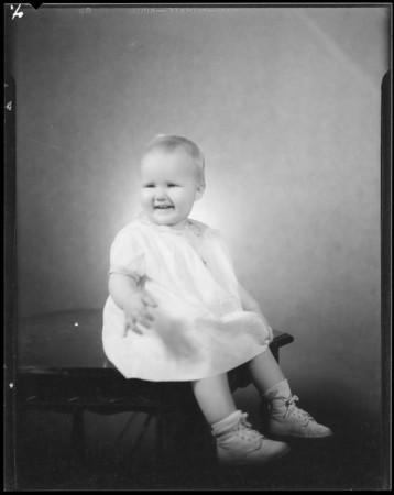 'Pinkie' his daughter, Art Sudelman, Southern California, 1934
