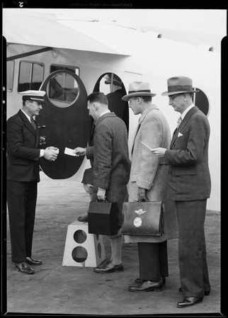 Mr. Gilpin and airline to San Diego, Southern California, 1930
