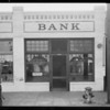 Pacific Southwest Bank, University branch, Southern California, 1924