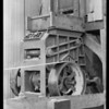 Test on rock crushing machine, Baash - Ross Tool Co., Southern California, 1930